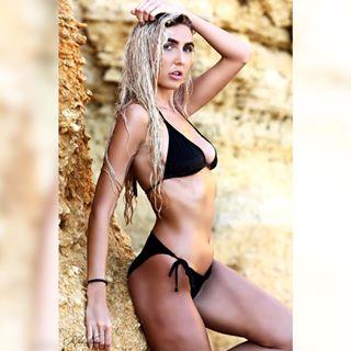 swimwear shooting model holiday camera tan location wet photography pose amazing hot beach canon training blondehair rocks bikini