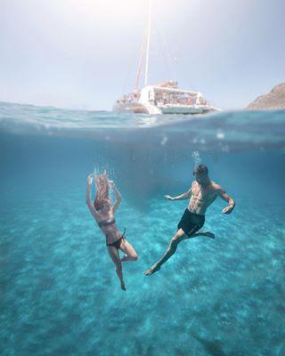 calablava dronephotography beauty mallorca underwaterphotography vacation sunsine catamaran travel übertriebenguterurlaub passionpassport boat bluewater