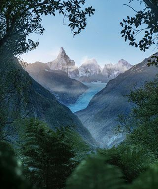 travel bluehour wanderlust travelphotography foxglacier photoshop newzealand passionpassport memories
