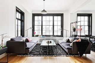 blackandwhitehome contrastingcolors cinematic interior4inspo interiorphotographer livingroominspo livingroomdesigns
