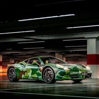 phaseone camouflage instacar carlove garageitaliacustoms supercar ferrari458 captureonepro11 aerotable carlovers lovecars 458italia 458speciale supercars