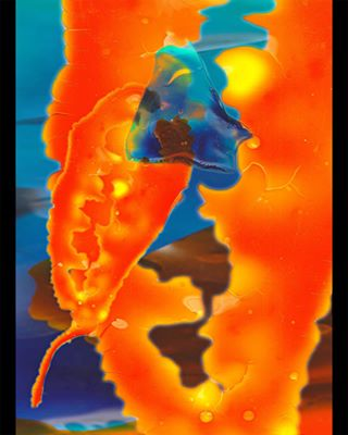 orange blue sun sea wip bioplastic
