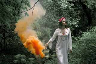 orangesmoke model fairytale magic photography fairytales forestfairy shooting tale forestfairytale fairymodel colorsmoke forest markoostojicphotography
