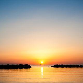 bellaria blue chill italy morning orange sunrise