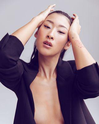 beauty instafashion fashion eyes bright instalike asiangirls studio face expression cool model instadaily color classy