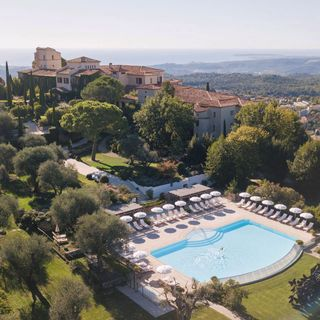paradise getaway aerialphotography southoffrance explore travel vence view pool nature hospitality oetkercollection oetker castle hotel luxury palace endearingplaces wherethemagichappens ChateauStMartin