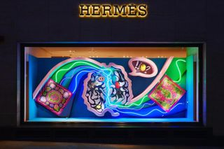 summer love heart window london fashion setdesign lighting neon renegadelightasylum renegadedesign heartsandmind hermes