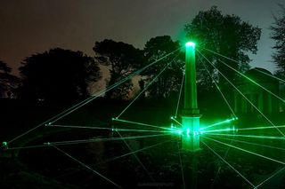 trees park geometric colour refract nature london show form space air dope visual contemporary dark night design set installation laser light art