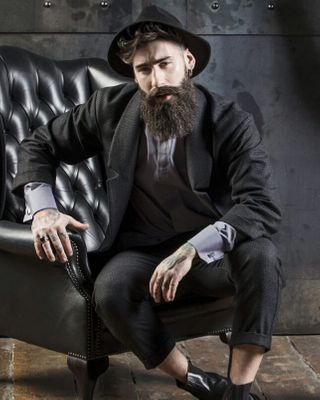 successpeople success modellife model famous tattoo malemodel bearded gentleman nyc ny newyork beard fit tailor dianalapin shooting fashion fashionphotography style men man milan italy madeinitaly italianstyle menswear manwear manswear