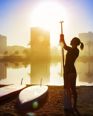 sup photography buildings surf river surfergirl outdoors scenic silhouette capetown reflection canon boardriders sunrise earlybird beauty