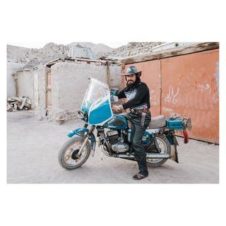 motorcycle motorbike hunter hunting russiancowboy cowoy soviet sovietunion travelphotography swissphotographer photojournalist photojournalism reportage documentaryphotographer documentaryphotography emomalirahmon khorog badakshan gornobadakhshan pamirgebirge pamirmountains pamir tadschikistan centralasia tajikistangram tajikistan_news tajikistan
