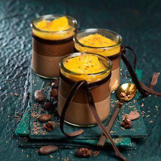 tasty tryit orange sweets mundart fotografie dessert foodphotography unimarkt chocolate pannacotta withflavor lovemyjob himmlsch kakaobohnen