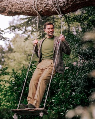 positivevibes fashion inspiration wellbeing life fit happiness relax healthylifestyle fun lifestyle smile healthy goodvibes health wellness fitness lookgood motivation happy feelgood mentalhealthawareness mensfashion menswear ropeswing gardenofengland garden manorhouse