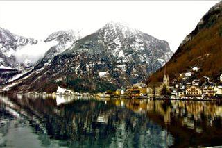 symmetry wanderlust reflection mycanon hallstatt natgeohub photogenic beautiful instadaily austria photooftheday mountains igers_europe town alps lakes colourful