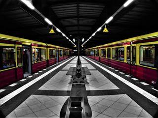 travelgram trains symmetry station photooftheday photography mycanon monochromesplash lines instagood instadaily igers germany berlin