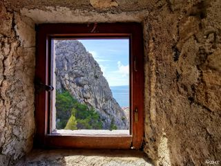 maygodblessyou onlyway jesuschrist adriaticsea window view inlovewithphotography photooftheday photo photography walk fortressmirabella mirabella fortress dalmatia city poem jureka omi summertime