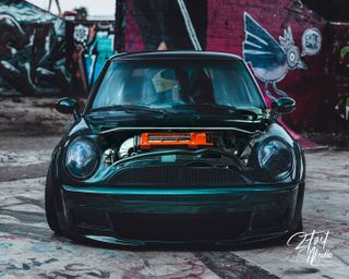 sony carfans cargram carsofinstagram dailydrive caphotography minir53 r53 minicooper supercharged bmw mini bagged