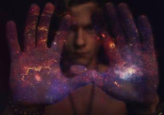 beyourself loveyourself hands photography galaxy present hereandnow spiritualawakening photomanipulation photoshop universe