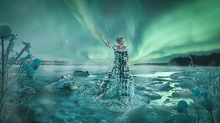 arctic auroraborealis finland finland100 ice lake maiden maidenoffinland northernlights suomi suomi100 suomi100vuotta suomineito suomityttö winter