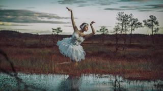 pond finnishnature famousbtsmag whooperswan finland dance behindthescenes photographeratwork ballet bts swan nationalbird dancer north ballerina memories photoshoot bog swamp professionalphotographer