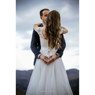weddingphotography nature groom whitedress married sky weddingdress weddingphoto outdoor wife couple mountains husband love kiss bride weddingsession wedding life