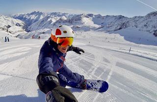winter berge piste snowboard stubaital österreich schnee
