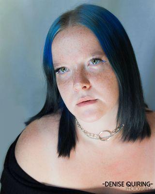 germany germangirl freckles nikonphotography fotografie women femalemodel highkeyportrait bluehair blue positivevibes portraitphotography portrait photography