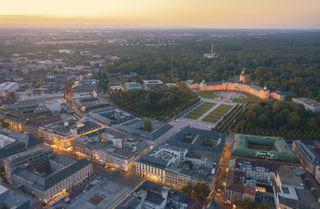 aerialphotography dji germany karlsruhetweets photography sunset travel visitkarlsruhe