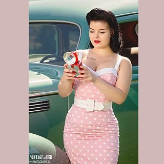 pinup pink vintagehair hairstyle photoshoot curves retro vintage makeup camera bucketlist winnipegphotographer 1950s dame