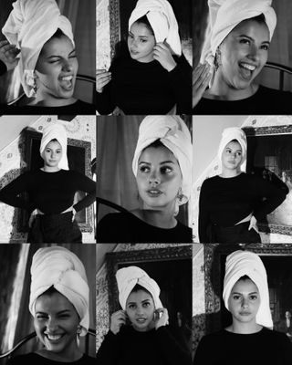 fashion beauty luxury photoshoot maghreb prequel picsart photography hotel art chic blackandwhite serie towelselfie towel