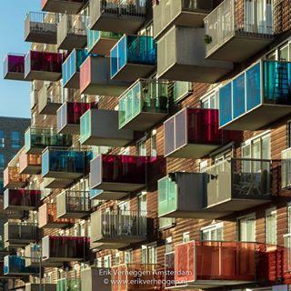 osdorp architecture balcony balkon colorfull nieuwwest oklahoma amsterdam