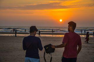 skyporn photography wandrer travelphotography beach sky nikond7000 wanderlust traveldiaries sunset friends goa goadiaries