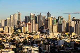 structures skyline high buildings architecture manila rise clear cityscapes sky highrise makati city