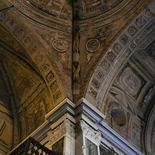 paint san ceiling catholic world site old curves architecture religion unesco detail agustin heritage details structure painting church manila painted