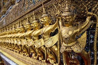 watphrakaew welcometoasia thai city asia row wat welcometoasia_wta buddhism warrior religion temple kaew buddhist demon thailand golden bangkok phra statue