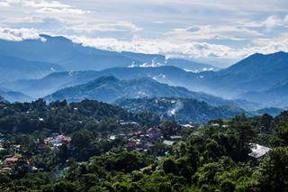 green baguio nature sky benguet mountains travel canon capital view city mines sea cloud clouds landscape pines mountain summer philippines park fog