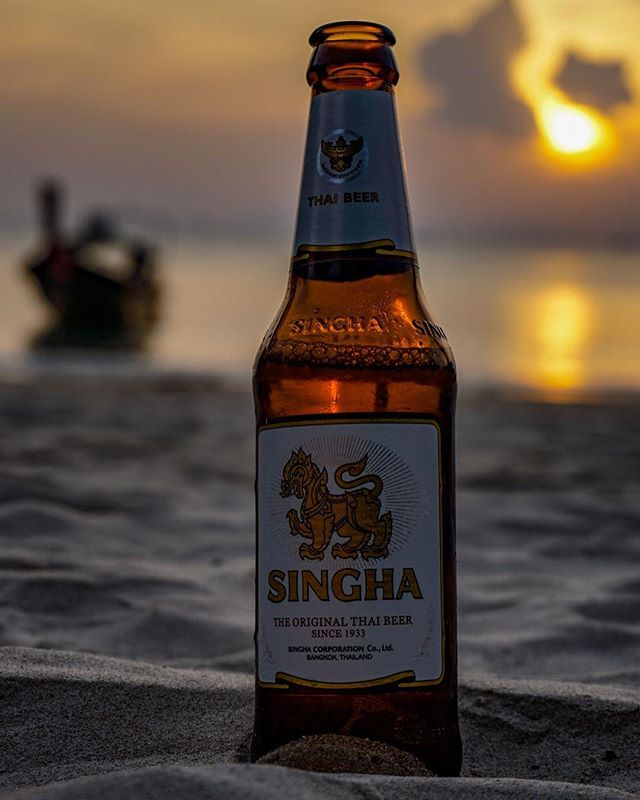 travel thailand sunset singhabeer singha sand picoftheday photography photographer ocean nature kolanta instapic colors beer beach