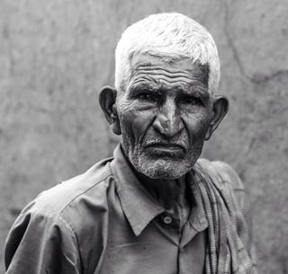 faces whitehair simplelife adobelightroom travel indian basholi oldman deepeyes kashmir picoftheday bigears peace wrinkles instagram mountains villagelife india portrait seriouslook 50mm emotions blackandwhite oldpeople photooftheday happypeople canon70d