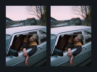 nikond700 sunset magazine car modeling pink fujiframez film lookbook