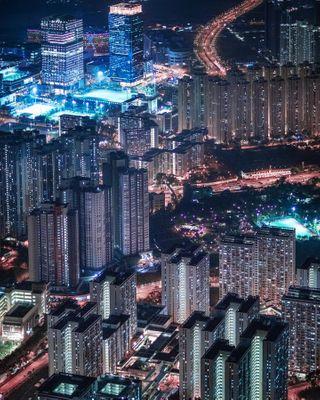 skyline hongkong hk