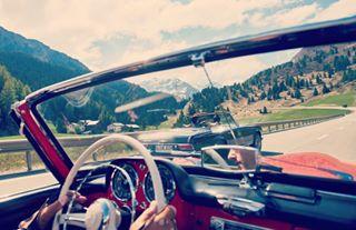 alpen berge mercedessl oldtimer