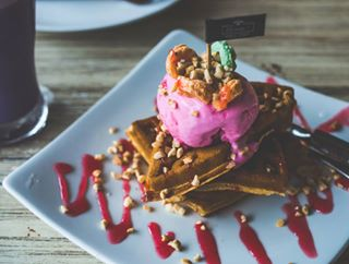 nikon darkmoody foodporn foodphotography indonesia food waffle nomnom tulungagung cafe