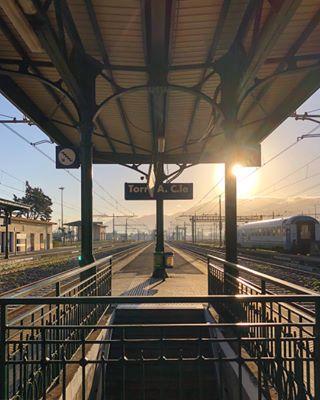 vsco torreannunziata travel vscoitaly igerscampania donnamodernainviaggio morning afterlight vscogood 365igp vscocam treno instagramitalia station train