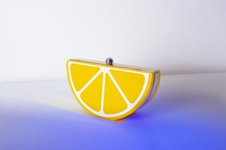 inspiration madeinromania photographer photography simple blue products fashion fashionaccessories purse minimal yellow lemon