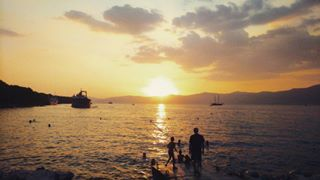 enjoying split picoftheday photographyy lifeisbeautiful sunset beach naturephoto marjan freezetime