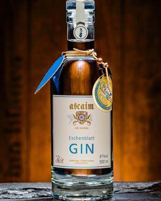 alkohol ascaim flasche gin