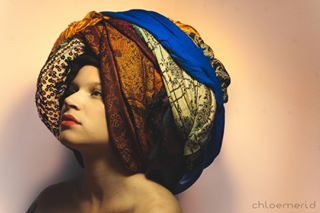 chloemeridshoots art chloemerid model muse scarf oldstyle fashionphotography india turban pattern beauty