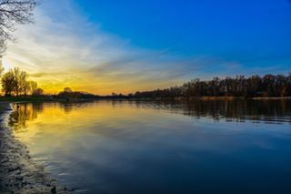 water tiszafüred tisza sunset sky picoftheday nikon nature bluesky beautiful