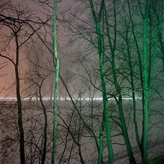 landscapephotography winter snow night trees daugavpils lights latvia