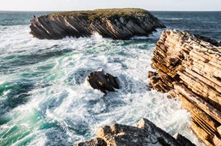 atlantic baleal beach deep discoverer landscape ocean peniche peninsula photography portugal swim travel water waves